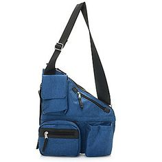 TravelRight® Two-Piece Diagonal Cut Multi Pocket Metro Crossbody & Tote Bag Set