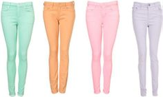 colored denim - i've been wanting to get into this trend..