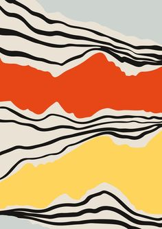 Mid Century Abstract Print Modernist Abstraction Line Art Contemporary Art Large Wall Art Sunset Art Living Room Decor Colour Field Living Room Decor Colors, Living Room Art, Decor Room, Wall Decor, Grand Art Mural, Colour Field, Sunset Art, City Sunset, Sunset Quotes