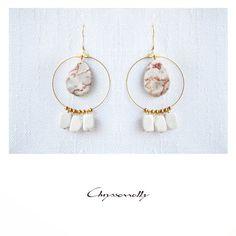- Gold boho-chic drop earrings with orange jasper and white howlite stones Orange Earrings, Gemstone Earrings, Etsy Earrings, Gold Earrings, Drop Earrings, Boho Designs, Jasper Stone, Semi Precious Gemstones, Handmade Jewelry