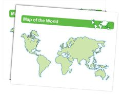 World Map - Download and laminate this map of the world. Students can point out places they'd like to visit around the world.