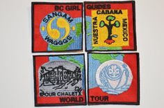 BC Girl Guides WAGGGS World Tour Challenge 4 Crests Badge GGC Girl Guides Canada