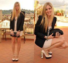pretty #suit #dress #highheels #hair