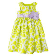 JUST ONE YOU  Made by Carters ® Infant Toddler Girls' Sleeveless Dress - Green/White