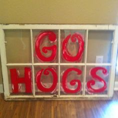 A razorback inspired 8 pane window!!