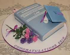 Law School Graduation Cake - Would choose the red cover casebook