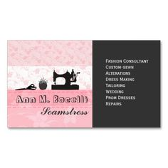 Feminine Handmade Fashion Moda Business Card