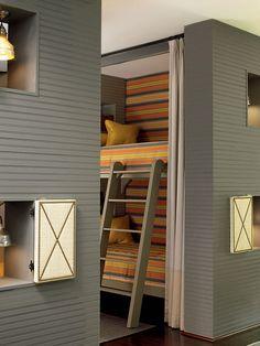 impeccable design #bunkbeds #kids #design #stripes