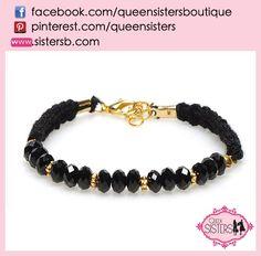 #bracelet #crystal #black