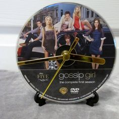 Gossip Girl DVD Clock Upcycled TV Show by DarkStormTV on Etsy