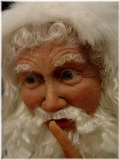 """Santa by Barbara VanNoy Barbara was featured in the """"2002 Better Homes and Gardens, Santa Claus Collection"""""""