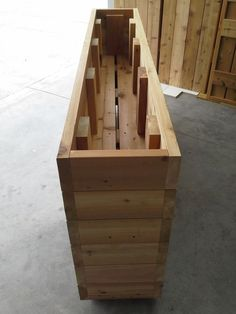 Cedar Planter c/w false bottom: