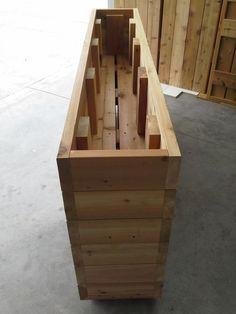 Cedar Planter c/w false bottom: