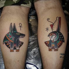 Follow and tag @inkedmagz to get featured Anubis and Horus for @wearefixtures today so good catching up and had an absolute blast with the tattoo as well! Cheers mate by bfh_tattoo