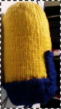 Knitted Minion   Knitting   Basic Knitted Fabrics   Free 30-day Trial   Scribd Basic Knitted Fabrics, Knitted Doll Patterns, Knitted Dolls, Knitting Patterns Free, Knitted Hats, Free Pattern, Minion Toy, Minions, Knitted Flowers Free