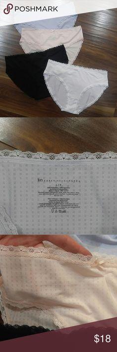 Karen Neuburger panties bundle Four pairs, white, black, pale pink and pale blue, size 7 hi-cut panties. New without tags. See pictures for details. Karen Neuburger Intimates & Sleepwear Panties