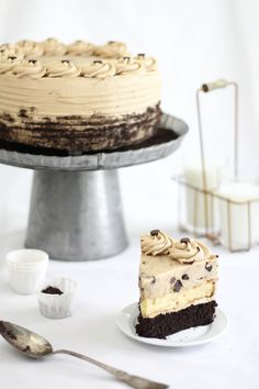 Chocolate Chip Cookie Dough Devil's Food Cake Cheesecake from Sprinkle Bakes (definitely better the second day - also, next time will make two chocolate cake layers and  split the layer of cookie dough... so it'll be something like this: choco cake, cheesecake, cookie dough, choco cake, and then finish with remaining cookie dough)