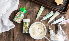 Sugar Cookie Frosting (Fluffy & Stackable) Cookie Frosting Recipe, Sugar Cookie Frosting, Frosting Recipes, Christmas Tree Cookies, Christmas Cookie Exchange, Banana Pudding Cheesecake, Iced Cookies, Holiday Recipes, Christmas Recipes