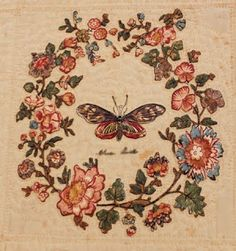 Broderie Perse - French for Persian embroidery.  Appliqué using printed elements to create a scene on background fabric. Popular in 17th c. Europe; probably travelled from India -originally worked with Chintz type fabrics.