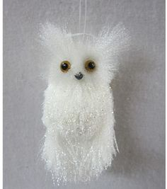 Would love a tree full of these little guys!!  Holiday Inspirations- White Owl: Christmas Floral: floral: home decor: Shop | Joann.com