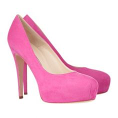Hot-pink Suede Pumps by Brian Atwood!!!