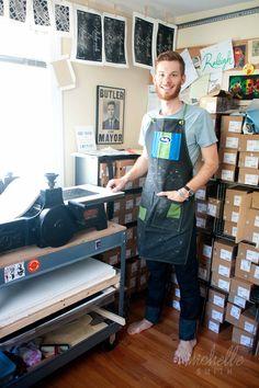 Matt Butler, Raleigh, NC Printmaker, Rock & Shop Market
