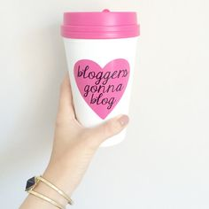 """Because bloggers gonna blog, blog, blog, blog..."" Doesn't this mug make you want to sing? This mug is perfect for any blogger who knows that well...Bloggers gonna blog! Enjoy your coffee, tea, hot chocolate, or wine (yeah, I said wine) in this darling cup while working away on your next blog post. You can even take it on the go! It's guaranteed to make your blog that much prettier! (Click here to purchase your own mug from The Trendy Sparrow - $20)"
