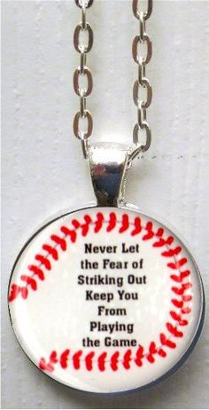 The Fear of Striking Out Baseball Round by LeButterflyWishes, $5.00