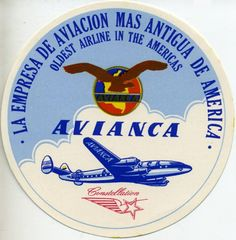 Pioneer airline in the Americas.  Avianca Airlines.  _  Colombia.