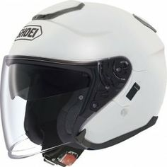 Shoei J-Cruise Blanc Ouvert Moto Custom Cruiser Scooter Ville Casque Open Face Motorcycle Helmets, White Motorcycle, Open Face Helmets, Motorcycle Gloves, Motorcycle Outfit, Biker Helmets, Casco Helmet, Course Moto, Shoei Helmets