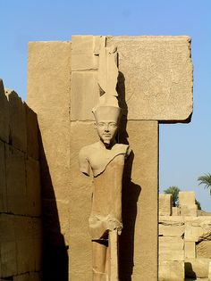 Egypt - Luxor    Precinct of Amun-Re at the Temple of Karnak.