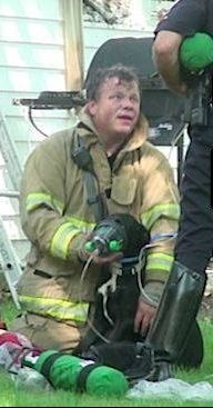 Firefighter rescues dog