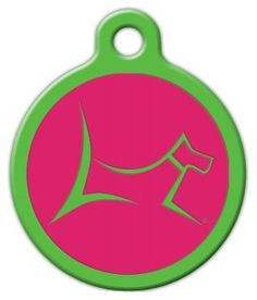 Club by Lupine - Bermuda Pink - Custom Pet ID Tag for Dogs and Cats - Dog Tag Art * Click image to review more details. (This is an Amazon affiliate link)