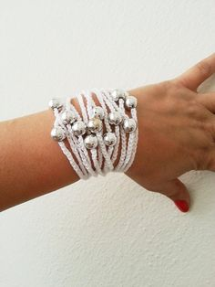 crocheted rope bracelet