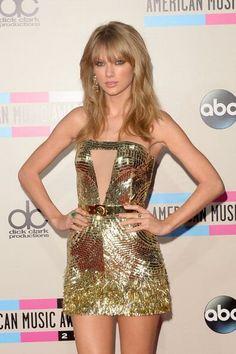 Taylor Swift AMAs 2013 Ravishing Gold