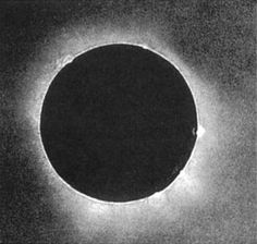 The first daguerreotype of a solar eclipse, made during the total phase of the solar eclipse of July 28th, 1851 at the Royal Observatory in Kaliningrad, Russia by a local daguerreotypist named Berkowski