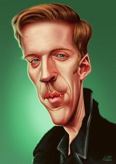 Damian Lewis caricature