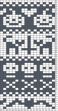 1/2 Halloween Fair Isle Chart