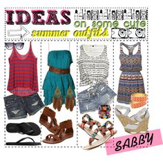 """Ideas on cute summer outfits!"" by creative-tipsters on Polyvore"