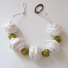Spring Fling - Necklace  Silk and linen necklace www.materialatelier.com