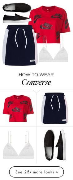 """Tyler Inspired Outfit - The Vampire Diaries / The Originals"" by fangsandfashion on Polyvore featuring NIKE and Converse"