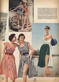 summertime playsuits from 1955.