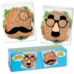 LUNCH DISGUISE SANDWICH BAGS. They'll never know it's a ham sandwich!