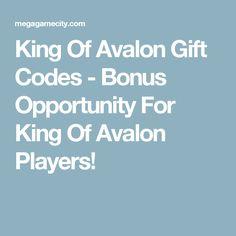 King Of Avalon Gift Codes - Bonus Opportunity For King Of Avalon Players!