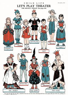 Story time paper dolls