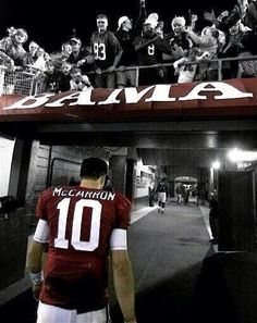 AJ's last walk into locker room ..... After his last game at Bryant Denny Stadium...Will be missed.