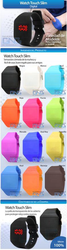 Reloj Digital LED de Silicón. Cliente Inversiones GNG de Venezuela. Elaborado por iGrafi