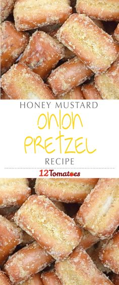 Honey Mustard Onion Pretzels | Looking for the perfect party snack? Try this tasty recipe for honey mustard and onion pretzel bites.