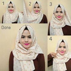 Easy Polka Dots Hijab Wrap