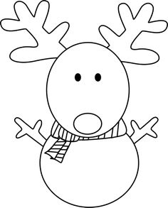Black And White Reindeer Snowman Clip Art Black And White Wallpaper